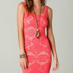 Free People Medallion Cut out stretch bodycon XS/S